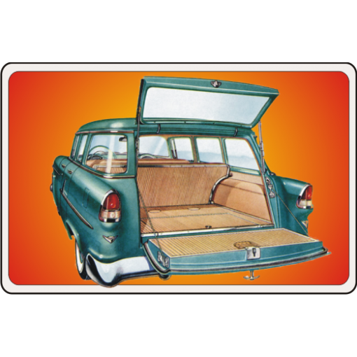 55 Chevy Wagon Baby One-Piece, Toddler T-Shirt
