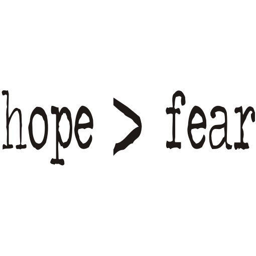 Hope > Fear Kids T-Shirt