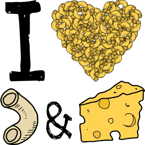 I Heart Mac & Cheese Baby One-Piece, Toddler T-Shirt