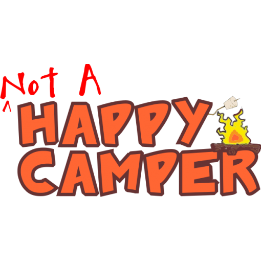 Not a Happy Camper Kids T-Shirt