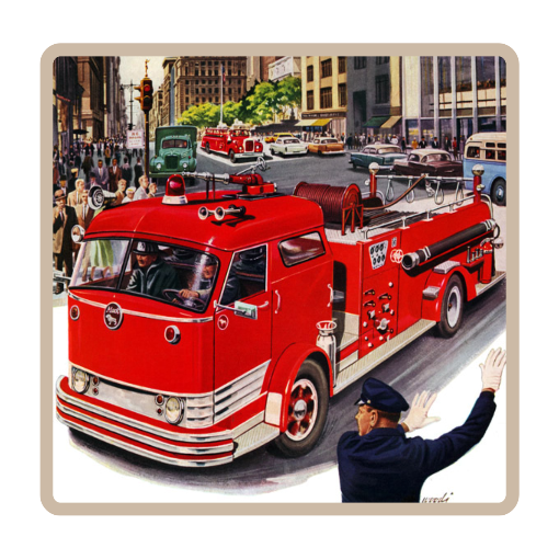 Red Fire Engine Kids T-Shirt