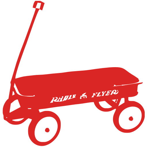 Red Wagon Baby One-Piece, Toddler T-Shirt