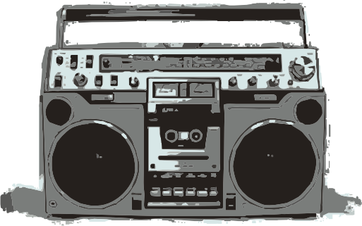 Old School Boombox Clipart – Cliparts