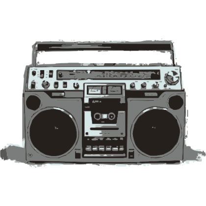 Old School Boombox Baby One-Piece, Toddler T-Shirt