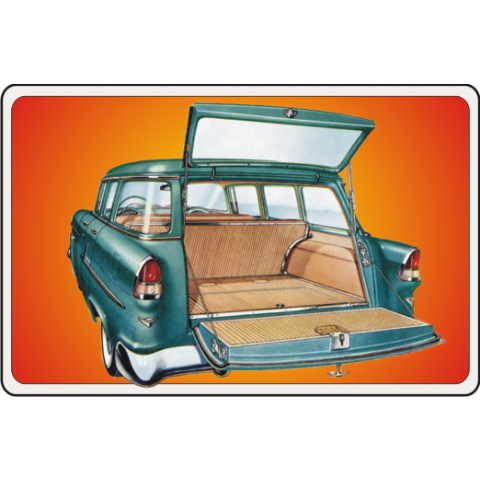 55 Chevy Wagon Kids T-Shirt