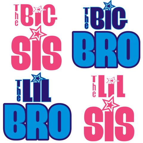 Big or Little Bro or Sis...You Pick Baby One-Piece, Toddler T-Shirt