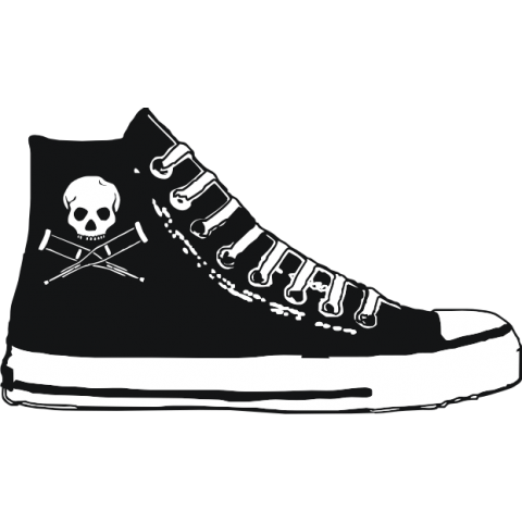 High Top Chucks T-Shirt