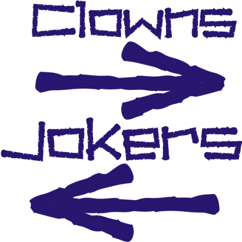 Clowns--Left, Jokers--Right Kids T-Shirt