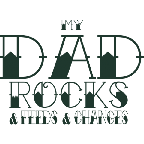 My Dad Rocks Kids T-Shirt