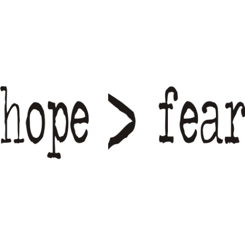 Hope > Fear Baby One-Piece, Toddler T-Shirt